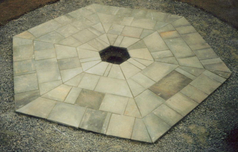 Stone paving feature