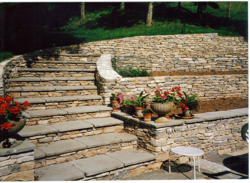 Purbeck and slab steps