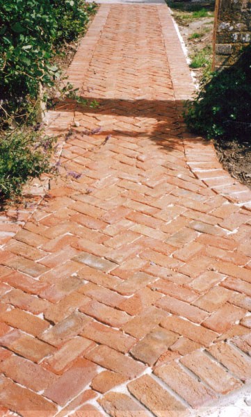 Clay brick path