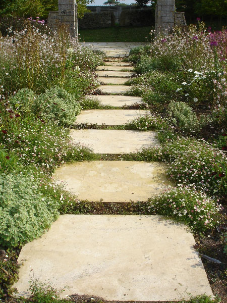Stepping stone paths