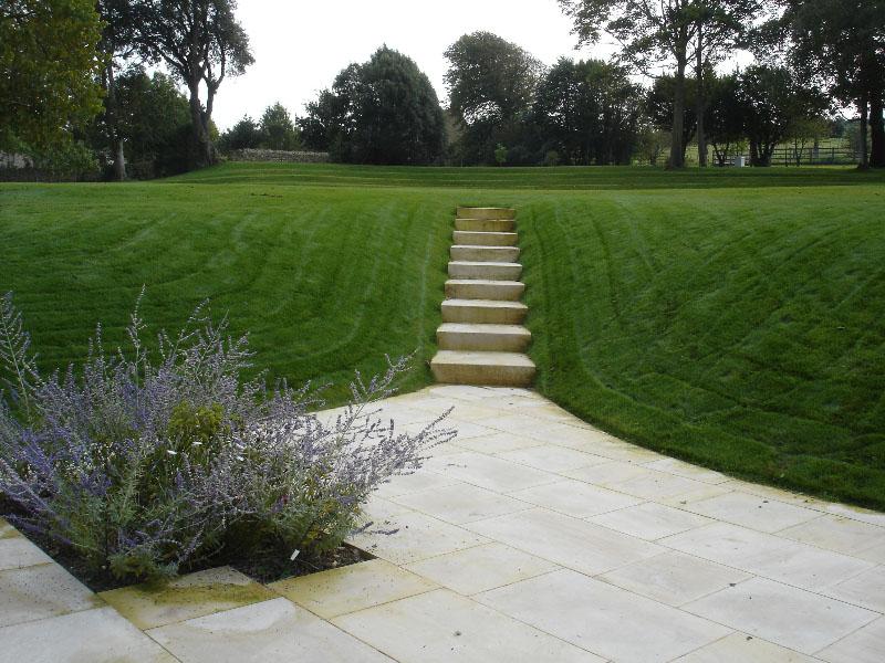 Formal Stone paving