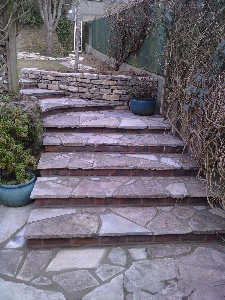 Random stone steps