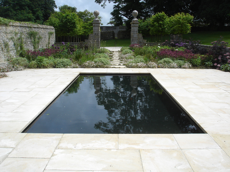 Ornamental pool